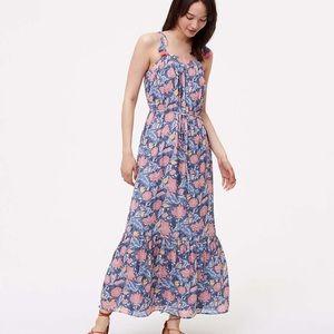 LOFT NWT Wildflower Tassel Maxi Dress